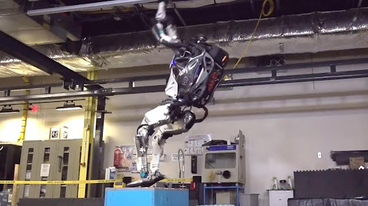 Boston Dynamics' humanoid Atlas robot learns to do backflips