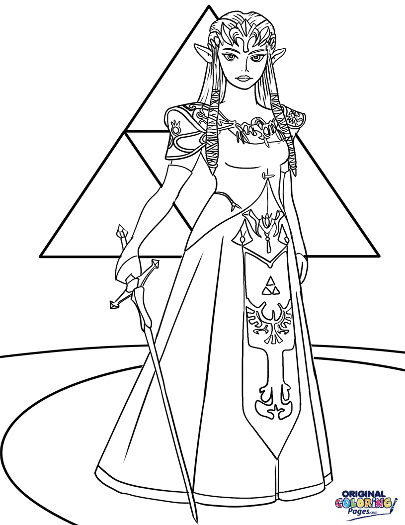 Legend Of Zelda Breath Of The Wild Link Coloring Pages ...
