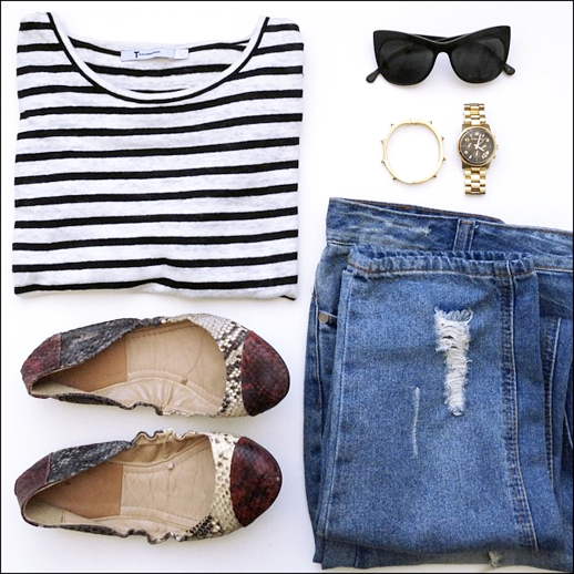 LE FASHION BLOG INSTAGRAM OUTFIT T BY ALEXANDER WANG STRIPE TEE SHIRT ELIZABETH AND JAMES LAFAYETTE CAT EYE SUNGLASSES CCSKYE STUD BRACELET GOLD BLACK FACE MICHAEL KORS WATCH PYTHON SNAKE SKIN COLOR BLOCK CAPE TOE FLATS DISTRESSED ASOS DENIM JEANS DAILY OUTFITS 3 photo LEFASHIONBLOGINSTAGRAMOUTFITALEXANDERWANGSTRIPESHIRTASOSDENIM3.png