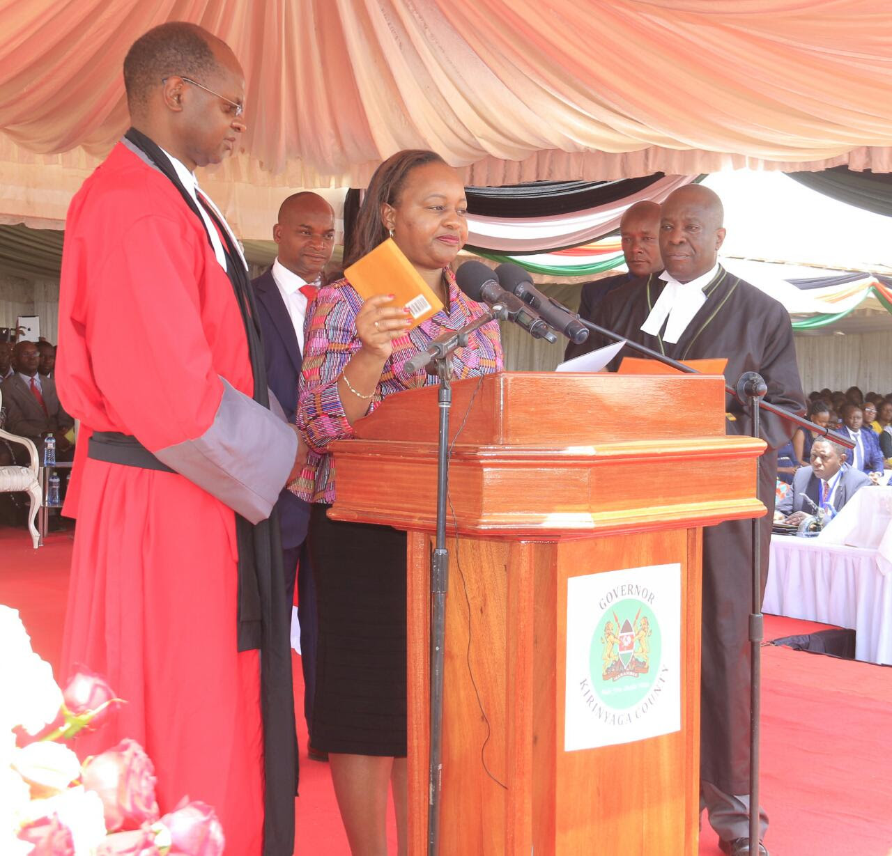 Image result for anne waiguru governor swearing in