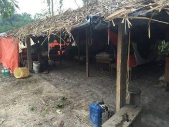 Alojamento onde ficavam os trabalhadores em condição análoga à escravidão, em fazenda grilada por AJ Vilela. Foto: Ação judicial do MPF