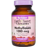 Bluebonnet Earth Sweet Cellular-Active Methylfolate 1000 mcg - 90 Tablets