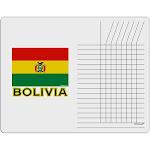 Bolivia Flag Chore List Grid Dry Erase Board