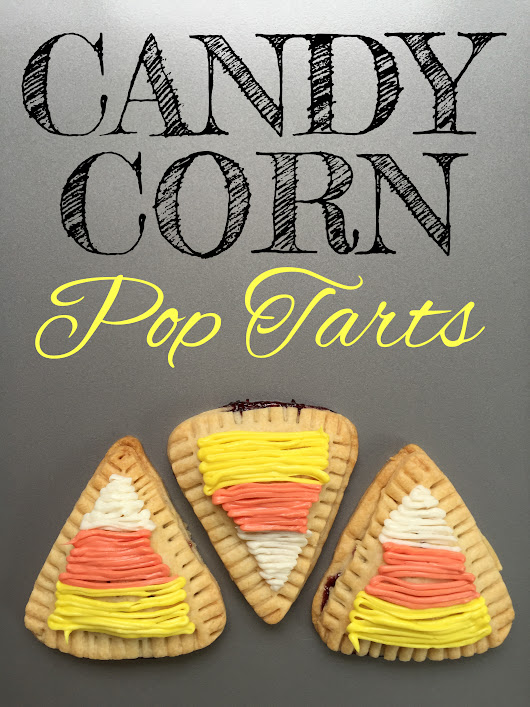 Candy Corn Homemade Pop Tarts