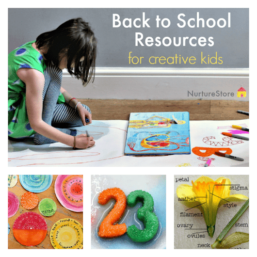 Back to school resources for creative kids learning - NurtureStore