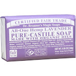 Dr Bronners Bar Soap, Pure-Castile, All-One Hemp Lavender - 5 oz