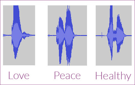 Love Peace and Healthy waveforms