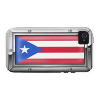 Puerto Rican Flag in a Steel Frame iPhone 4 Cover
