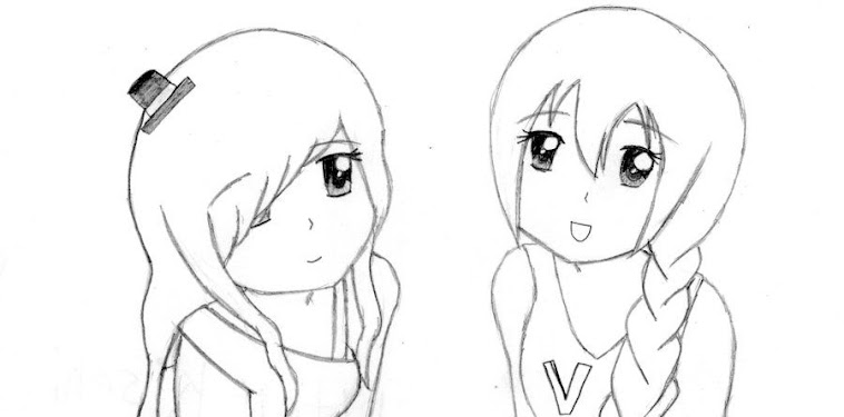 Anime Girl Best Friends Drawing Easy