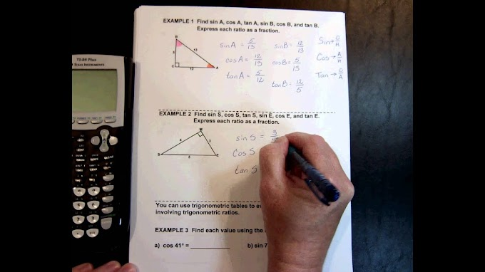 Trigonometric Ratios In Right Triangles Answer
