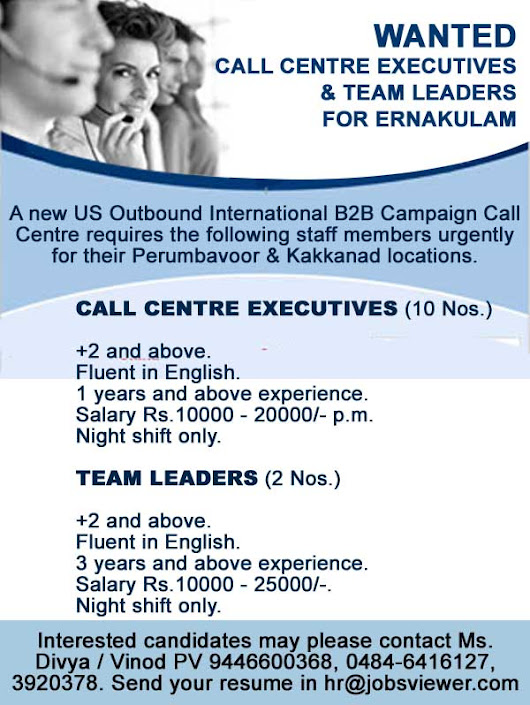 Call centre jobs in Cochin