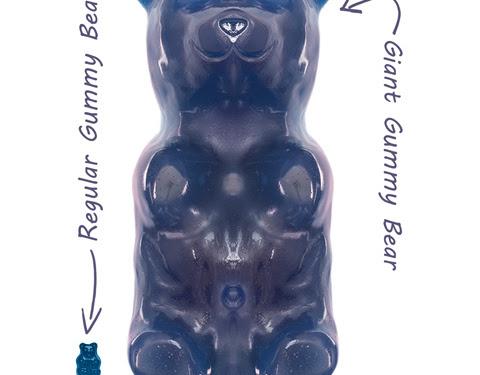 Blue Giant Gummy Bear
