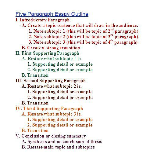 how to write a basic outline for an essay