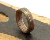 Bentwood Ring, Handmade Walnut and Guitar String Jewelry - Ebeniste