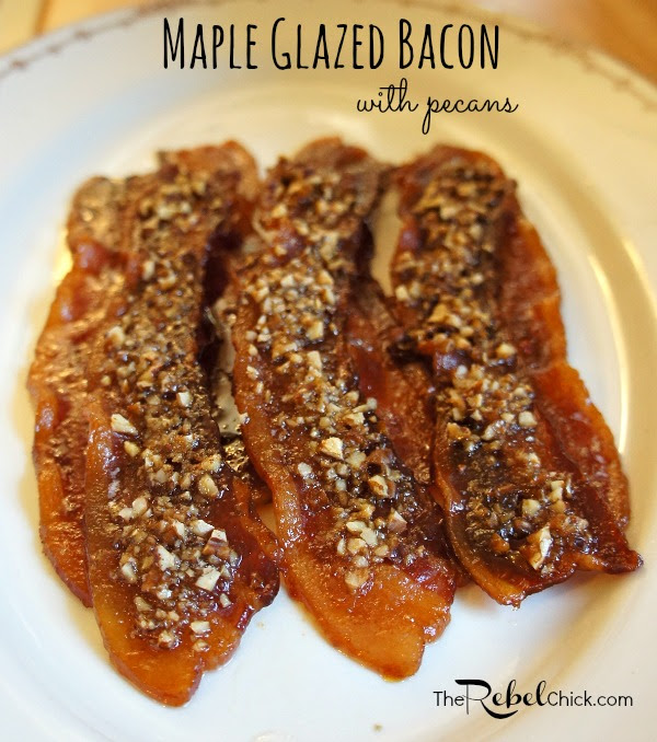 maple glazed bacon strips