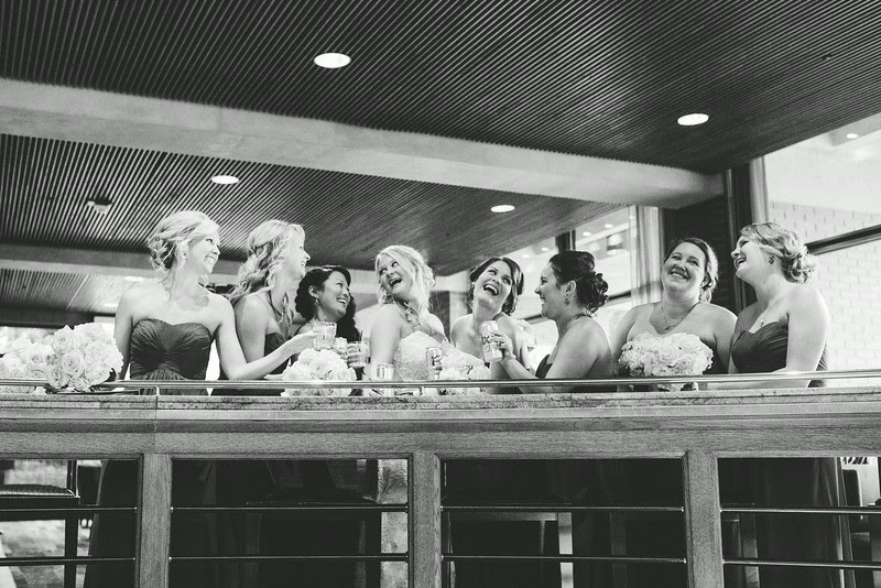 Wedding party and family Formals at The Hyatt Lodge at McDonald's Campus, Oak Brook Illinois, Grand Oaks Pavillion Wedding which had an indoor ceremony. By Mindy Joy Photography