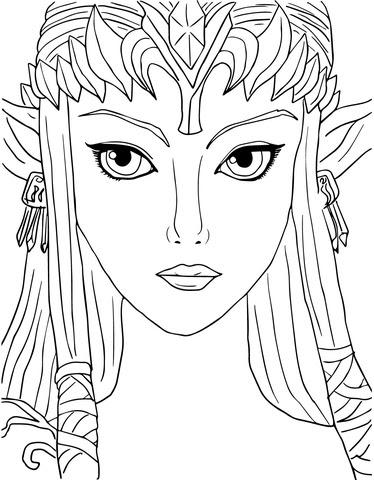 Dibujo De La Leyenda De Zelda La Princesa Del Crepúsculo Para