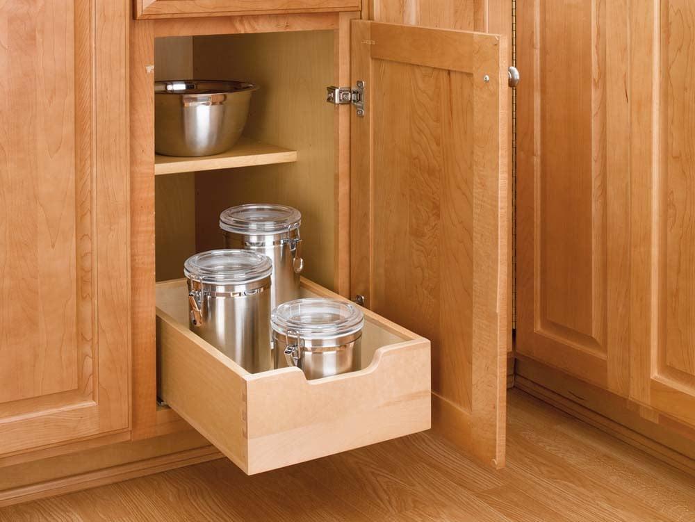 12 inch Wood Pull-Out Shelf, 4WDB-12
