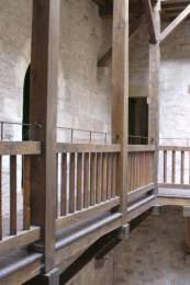 Cordes sur Ciel : détail de la cour intérieure de la maison Gaugiran