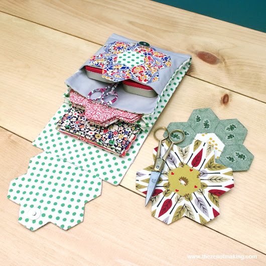 Tutorial: English Paper Piecing Travel Kit, Hexies Part 3