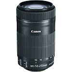 Canon EF-S Telephoto Zoom Lens for Canon EF/EF-S - 55mm-250mm - F/4.0-5.6