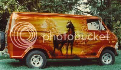 horse van mural