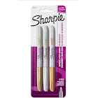 Sharpie Metallic Fine Point Permanent Markers, Assorted - 3 pack