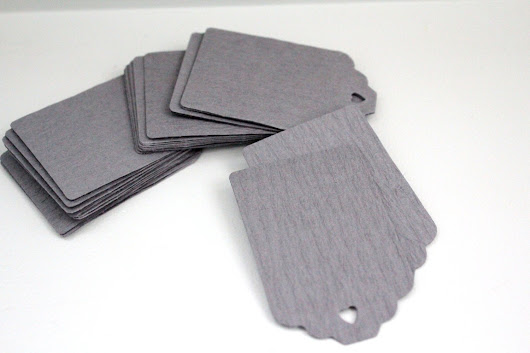 30 Grey gift tagscrinkly gift tagsgrey paper by karliboutique