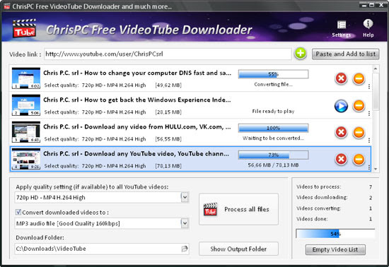 How to download videos from VK.com with ChrisPC Free VideoTube Downloader. It is the Best