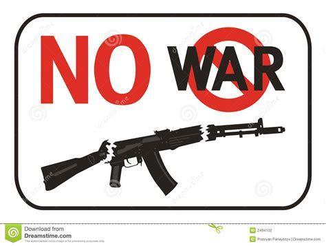 No War Placard Stock Photography   Image: 2494102