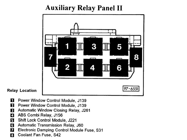 Quattroworld Com Forums Auxiliary Relay Panel 2 Driver S Side Kick Panel