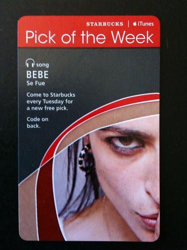 @Starbucks iTunes Pick of the Week - Bebe - Se Fue #fb
