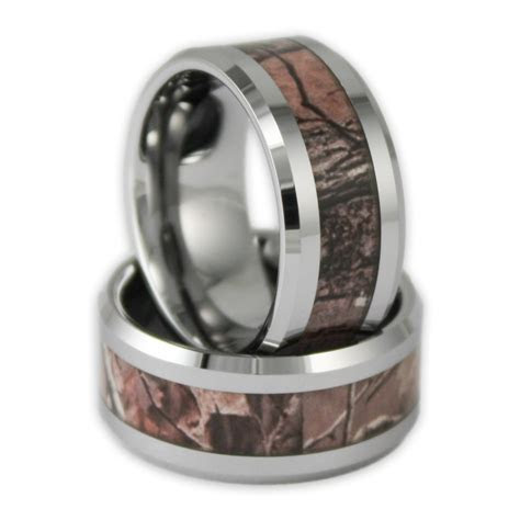 10MM Wide Men's Tree Camo Tungsten Ring Camouflage Wedding