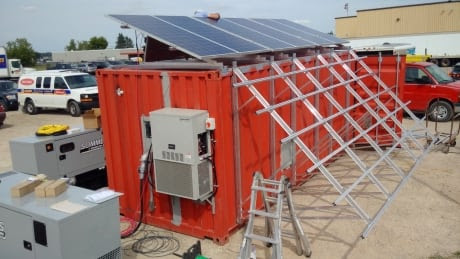 Converted shipping containers being used as high-tech mobile science labs in Arctic