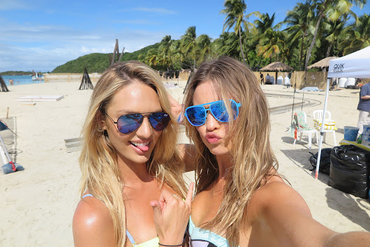 Prepping for the Victoria's Secret Swim Special: Candice Swanepoel and Behati Prinsloo on the Secret to Good Beach Hair