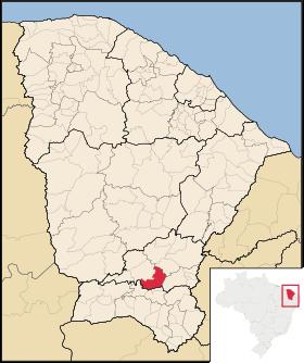 Localização de Várzea Alegre