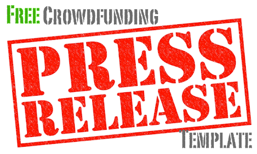 Free Crowdfunding Press Release Template