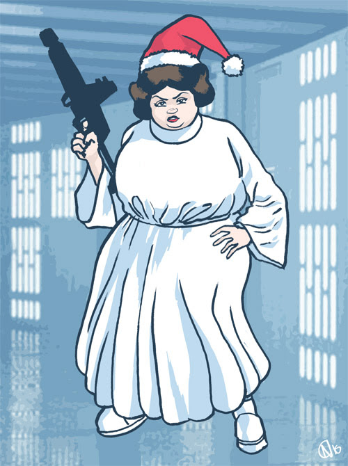 15 - Overweight Princess Leia Cosplay Santa