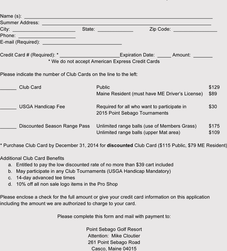 Club Membership Application Registration Form Templates