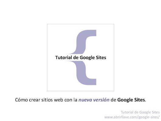 Tutorial de Google Sites en PDF
