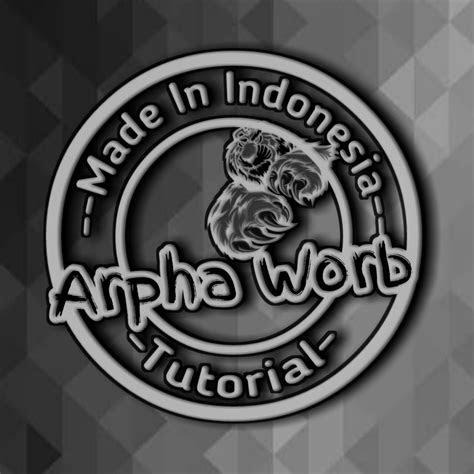 membuat logo  keren  aplikasi android arpha