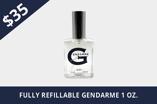 """Only At"" Gendarme.com - $35 Fully Refillable Gendarme 1oz Spray"