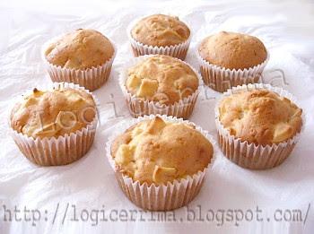 [ Muffins senza Uova alle Mele ]