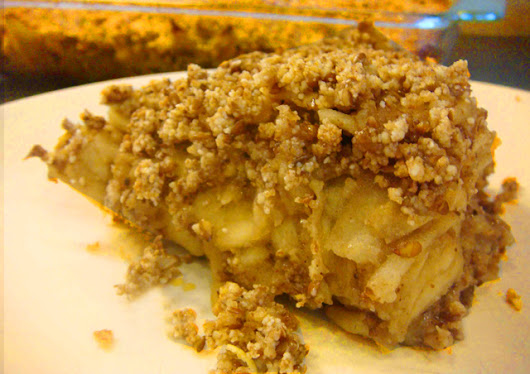 Healthy Crumble Apple recipe -