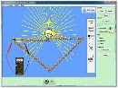 Screenshot of the simulation Κατασκευή κυκλωμάτων (μόνο DC), εικονικό εργαστήριο