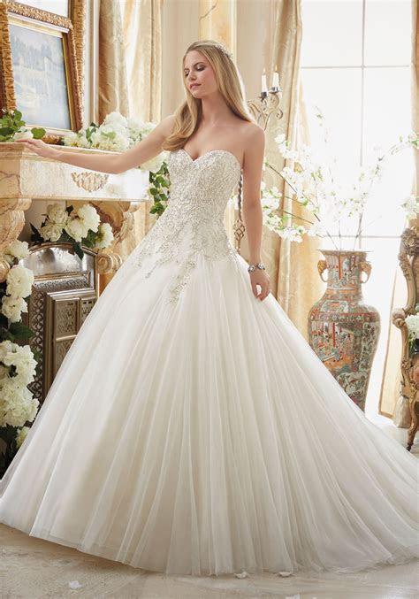 Beaded Embroidery on Tulle Cinderella Ball Gown   Style