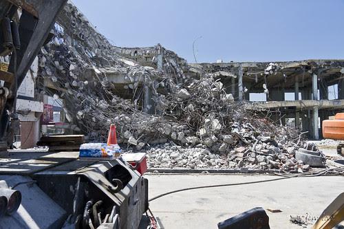 Demolished Verizon building