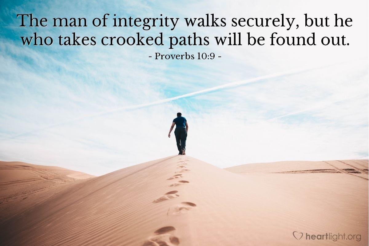 Illustration of Proverbs 10:9