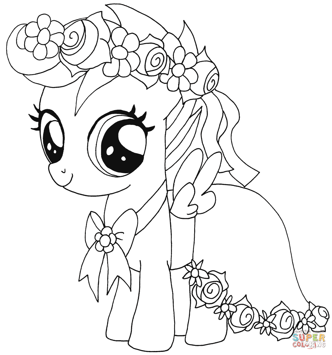 98+ Coloring Book Pony HD