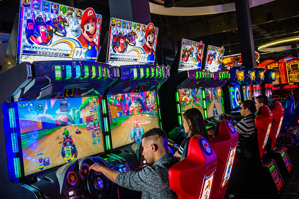 Inside A Dave & Buster's Entertainment Inc. Restaurant Ahead Of Earnings Figures : News Photo
